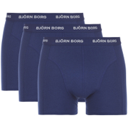Bjorn Borg Men's Solids Boxer Shorts - Blue Depths