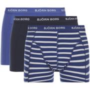 Bjorn Borg Men's 3 Pack Stripe Detail Boxer Shorts - Sodalite Blue