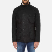 Barbour International Men's Crank Wax Jacket - Black