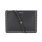 MICHAEL MICHAEL KORS Ava Stud Large Crossbody Bag - Black