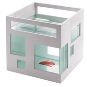 Umbra Fish Hotel Aquarium - White
