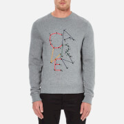 Carven Men's Dot To Dot Print Sweatshirt - Gris Chine