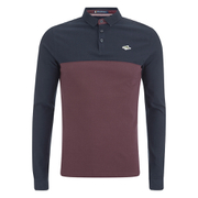 Le Shark Men's Benhill Long Sleeve Polo Shirt - Port