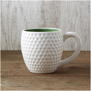 Tee Time Mug - White/Green