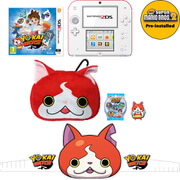 Nintendo 2DS White/Red + YO-KAI WATCH + Super Mario Bros. 2 Pack