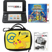 Nintendo 3DS XL Black + Pokémon Super Mystery Dungeon Pack