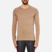 HUGO Men's San Francisco Cotton Silk Cashmere Jumper - Light/Pastel Brown