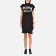 Cheap Monday Women's Capsule Stripe Logo T-Shirt Dress - Black