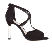 Dune Women's Melody Suede Heeled Sandals - Black