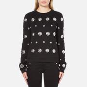 Versus Versace Women's Silver Studded Sweatshirt - Black/Silver