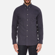 rag & bone Men's Lightweight Flannel Shirt - Navy