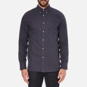 rag & bone Men's Lightweight Flannel Shirt - Navy