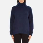 Gestuz Women's Oba Roll Neck Jumper - Navy Blazer
