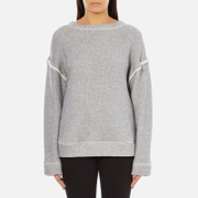 Helmut Lang Women's Heavy Loop Back Terry Jumper - Dark Heather