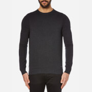 BOSS Orange Men's Albinon Crew Neck Knitted Jumper - Dark Grey