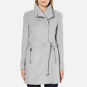 Vero Moda Women's Call Rich 3/4 Wool Jacket - Light Grey Melange