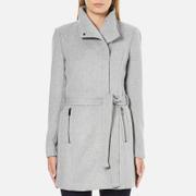 Vero Moda Women's Call Rich 3/4 Wool Jacket - Light Grey Melange