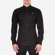 Vivienne Westwood MAN Men's Stretch Poplin Long Sleeve Shirt - Black