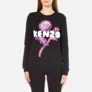 KENZO Women's Embroidered Logo Sweatshirt - Black