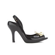 Vivienne Westwood for Melissa Women's Lady Dragon 16 Peep Toe Heeled Sandals - Black Orb