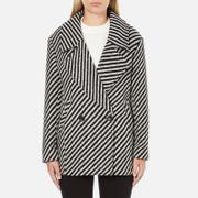 Maison Scotch Women's Boxy Fit Short Wool Jacket - Multi