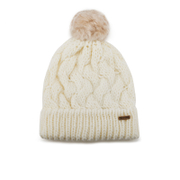 Barbour Women's Fur Pom Beanie - Snow