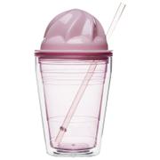 Sagaform Sweet Plastic Milkshake Cup 350ml - Pink
