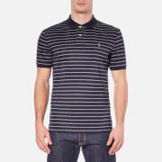 Polo Ralph Lauren Men's Short Sleeve Pima Cotton Stripe Polo Shirt - French Navy