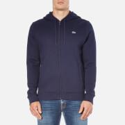 Lacoste Men's Zip Through Hoody - Navy Blue