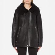 Gestuz Women's Lulle Shearling Jacket - Black