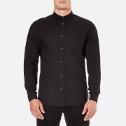 Selected Homme Men's Woken Long Sleeve Shirt - Black