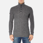 Superdry Men's Harrow Regatta Henley Jumper - Gunmetal Twist
