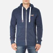 Superdry Men's Orange Label Zip Hoody - Nautical Navy Grit