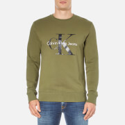 Calvin Klein Men's Crew Neck Sweatshirt - Olive Night