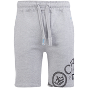 Crosshatch Men's Pacific Jog Shorts - Grey Marl
