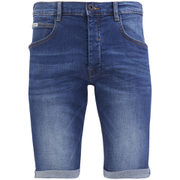 Crosshatch Men's Skylo Denim Shorts - Stone Wash