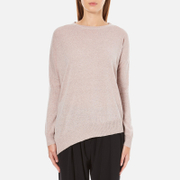 Paisie Women's Round Neck Asymmetric Jumper - Blush