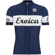 Santini L'Eroica Cielo 2016 Event Series Polyester Print Short Sleeve Jersey - Dark Blue