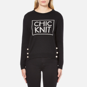 Boutique Moschino Women's Chic Knitted Jumper - Black