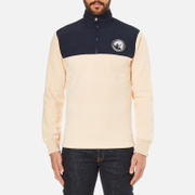 Billionaire Boys Club Men's Half-Zip Funnel Sweatshirt - Beige/Navy
