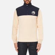 Billionaire Boys Club Men's Half-Zip Funnel Sweatshirt - Beige/Navy