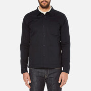 Folk Men's Painters Buttoned Over Shirt - Navy