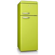 Swan SR11010LN Retro Top Mounted Fridge Freezer - Green