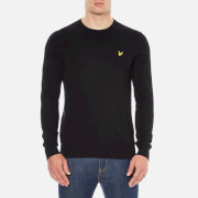 Lyle & Scott Men's Crew Neck Cotton Merino Jumper - True Black