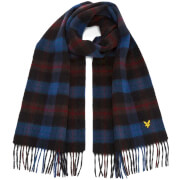 Lyle & Scott Men's Woven Tartan Scarf - Blue Purple