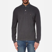 Tommy Hilfiger Men's Long Sleeve Polo Shirt - Charcoal Heather