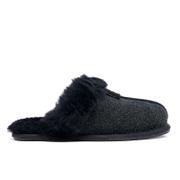 UGG Women's Scuffette II Serein Shimmer Suede Slippers - Black