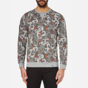 Pretty Green Men's Riley Print Sweatshirt - Charcoal