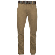 Smith & Jones Men's Ashlar Belted Slim Fit Chinos - Camel Twill