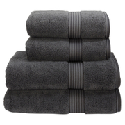 Christy Supreme Hygro 4 Piece Hand & Bath Towel Bundle - Graphite